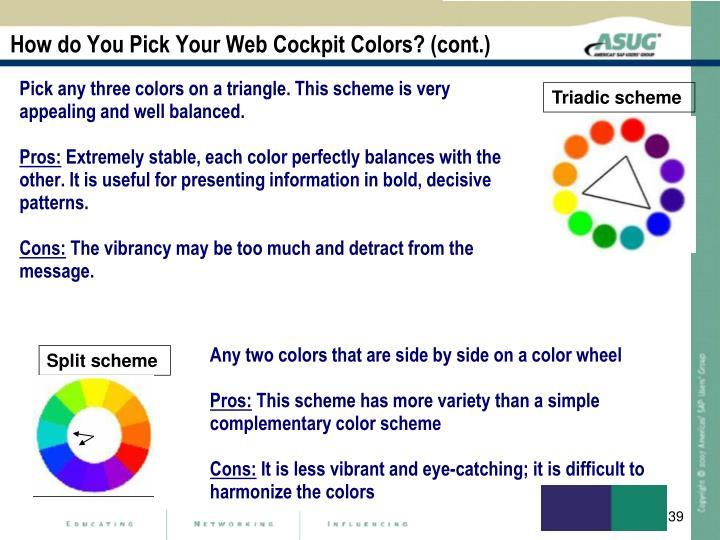 How do You Pick Your Web Cockpit Colors? (cont.)