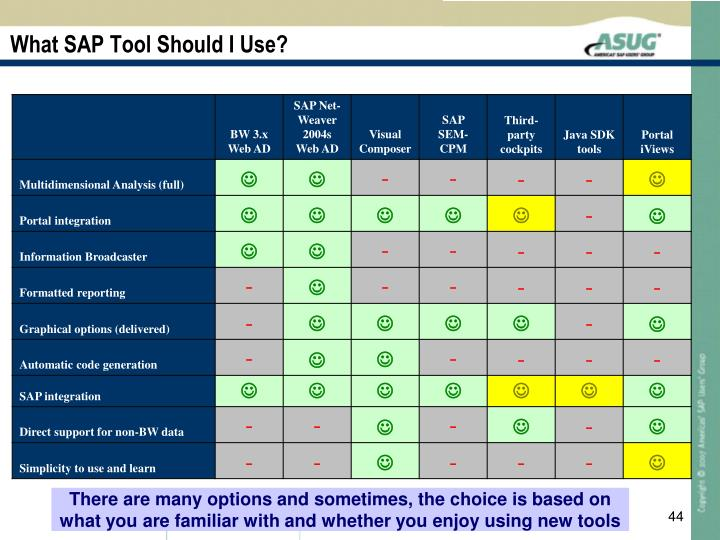 What SAP Tool Should I Use?