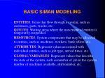 basic siman modeling