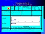 simulation by hand t 2 90 departure of part 1