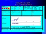 simulation by hand t 4 41 arrival of part 5