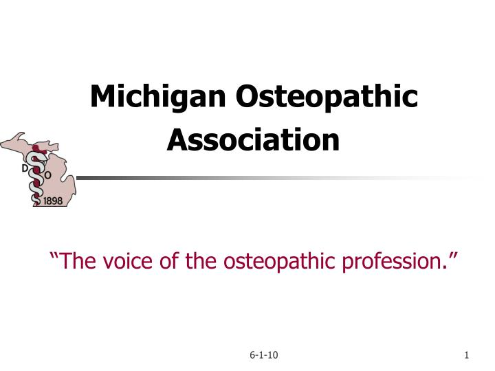 Michigan osteopathic association the voice of the osteopathic profession