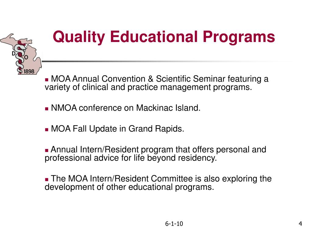 Quality Educational Programs