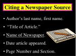 citing a newspaper source