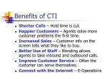 benefits of cti