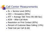 call center measurements