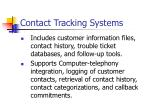 contact tracking systems
