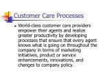 customer care processes