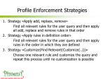 profile enforcement strategies