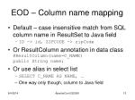 eod column name mapping