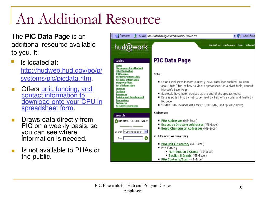 An Additional Resource