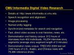 cmu informedia digital video research