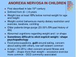 anorexia nervosa in children
