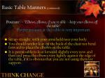 basic table manners continued
