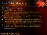 basic table manners