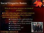social etiquette basics