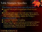 table manners specifics