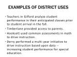 examples of district uses