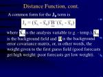 distance function cont