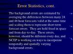 error statistics cont1