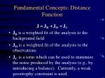fundamental concepts distance function