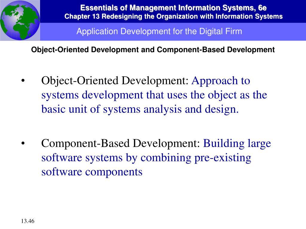 Application Development for the Digital Firm