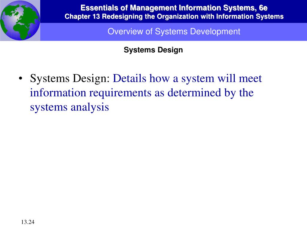 Overview of Systems Development
