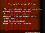 the baby boomers 1943 60