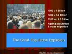 the great population explosion