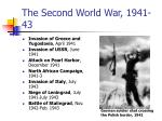 the second world war 1941 43
