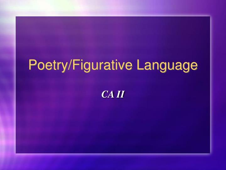 poetry figurative language n.