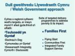 dull gweithredu llywodraeth cymru welsh government approach