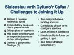 sialensiau wrth gyfuno r cyfa n challenges to joining it up