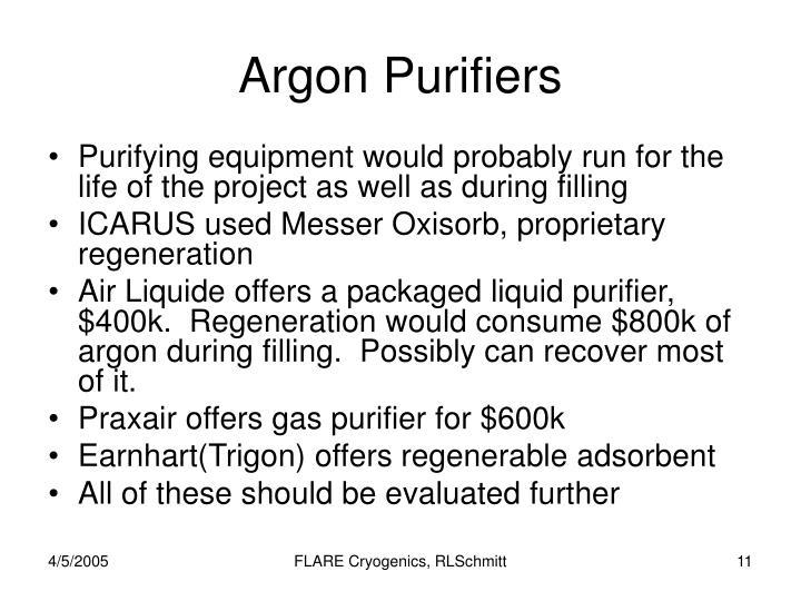 Argon Purifiers