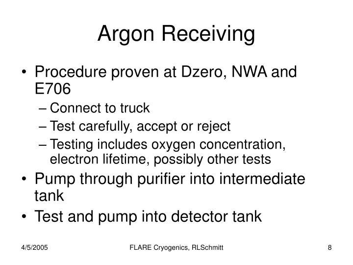 Argon Receiving