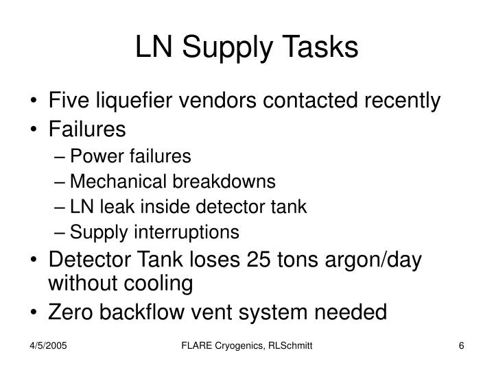 LN Supply Tasks