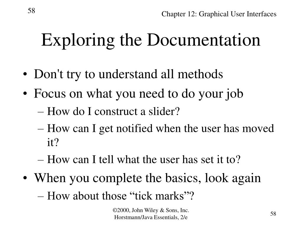 Exploring the Documentation
