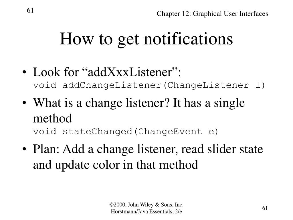 How to get notifications