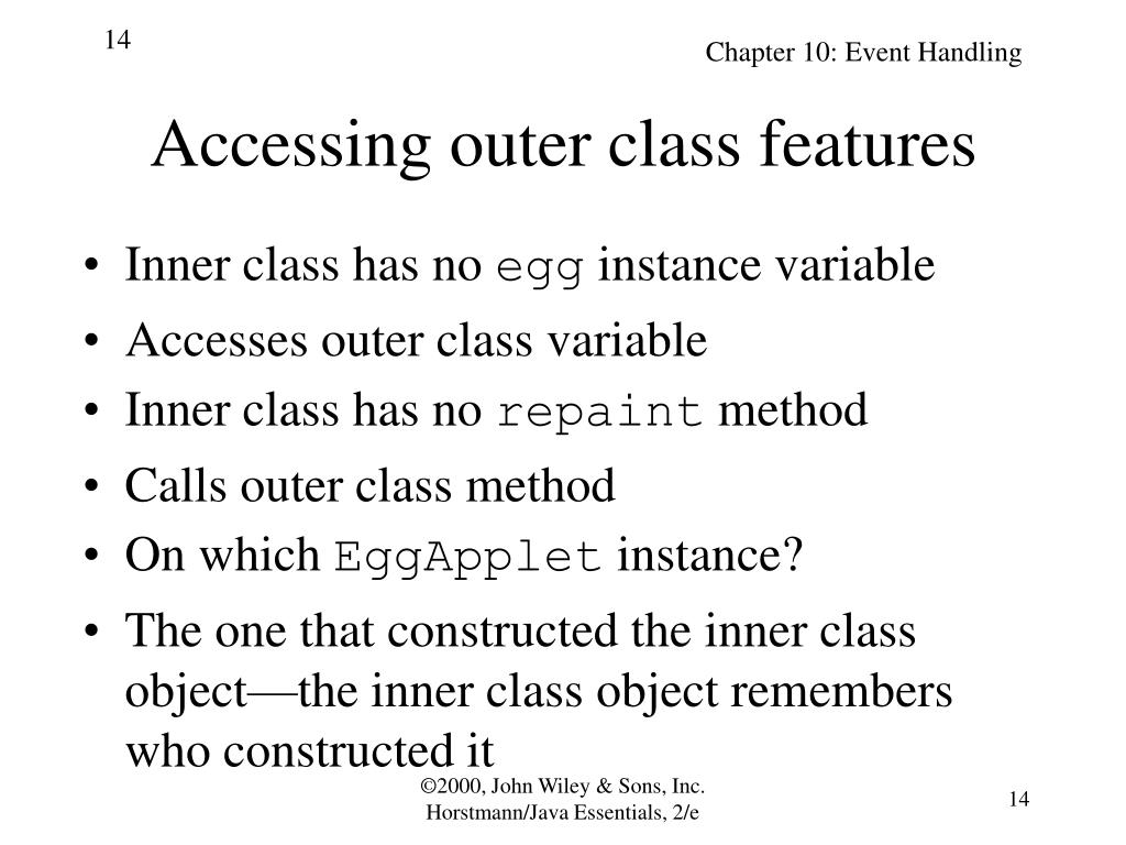 Accessing outer class features