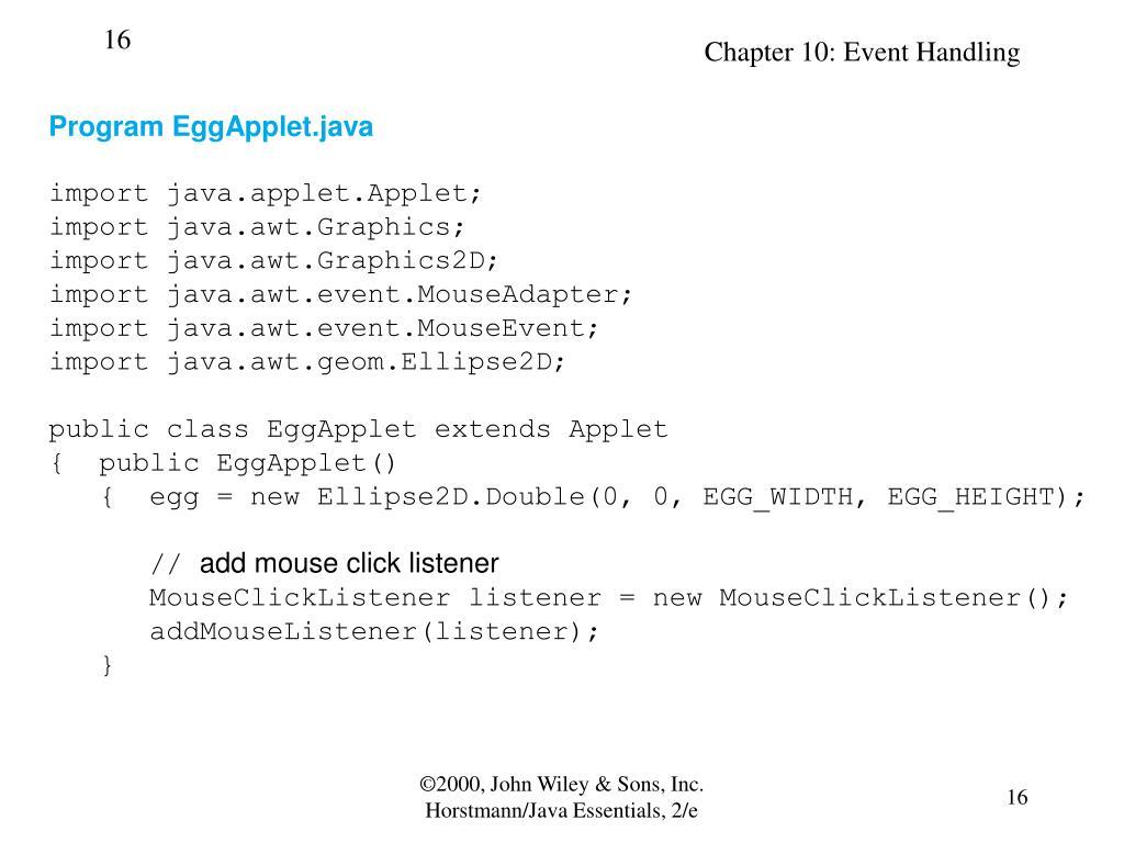 Program EggApplet.java