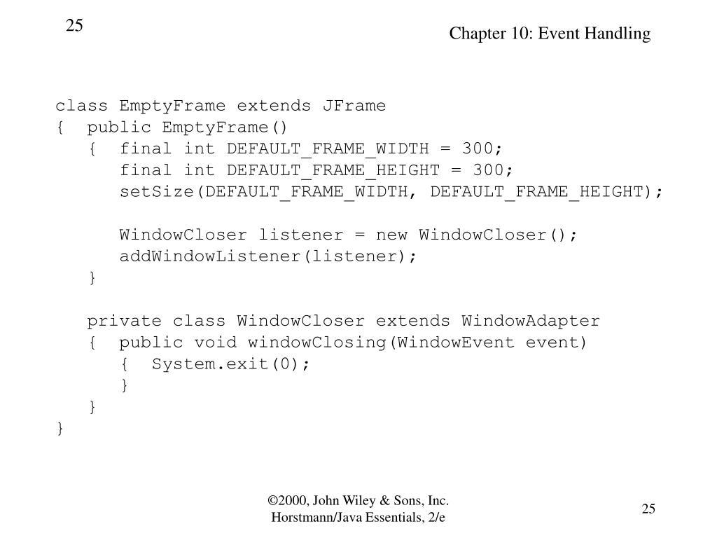 class EmptyFrame extends JFrame