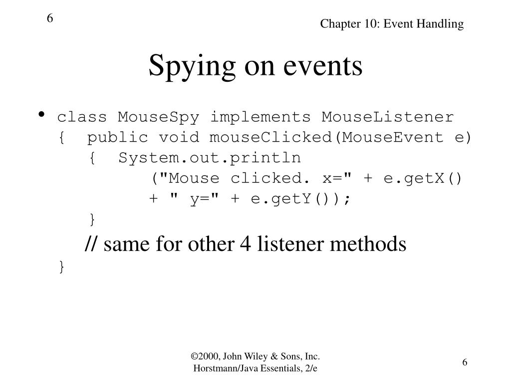 Spying on events