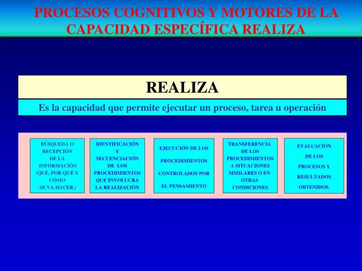 PROCESOS COGNITIVOS Y MOTORES DE LA CAPACIDAD ESPECÍFICA REALIZA
