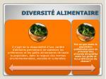 diversit alimentaire
