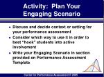 activity plan your engaging scenario