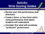activity write scoring guides
