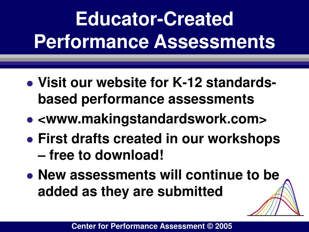 Educator-Created         Performance Assessments