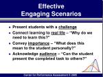 effective engaging scenarios