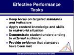 effective performance tasks