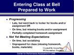 entering class at bell prepared to work166